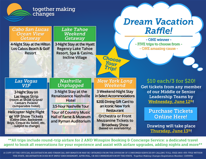 Together Making Changes Dream Vacation Raffle! | TMC
